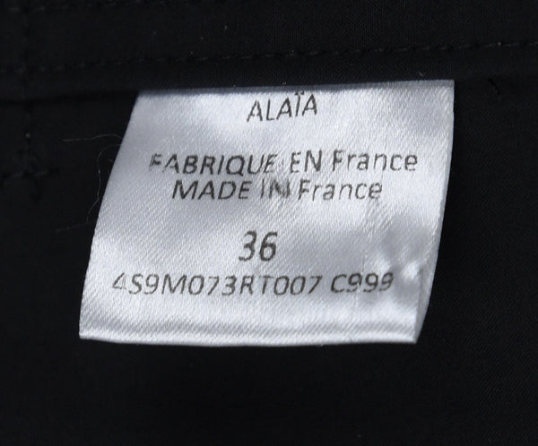 Alaia Black Cotton Polyurethane Trench Coat 4