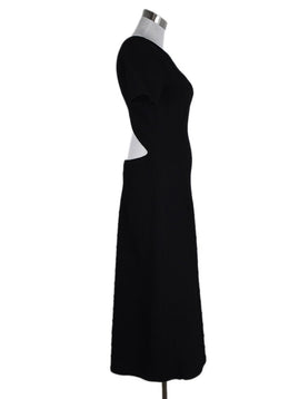 Alaia Black Textured Polyamide Spandex Dress 2
