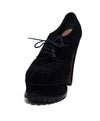Alaia Black Suede Lace Up Platform Heels 1