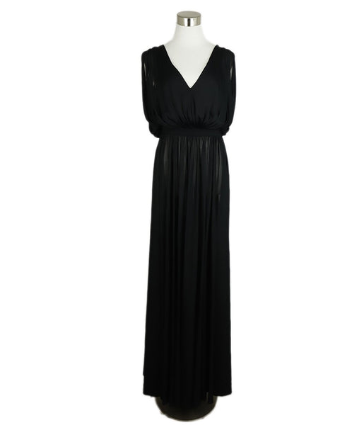 Long Alaia Size 4 Black Viscose Dress 3