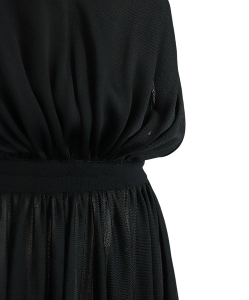 Long Alaia Size 4 Black Viscose Dress 6