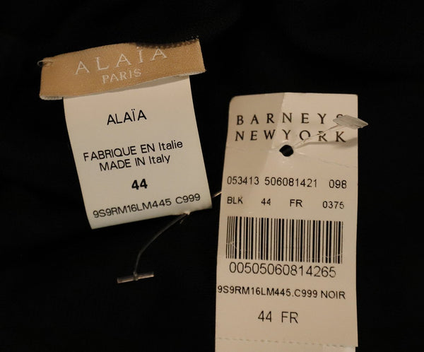 Long Alaia Size 4 Black Viscose Dress 4