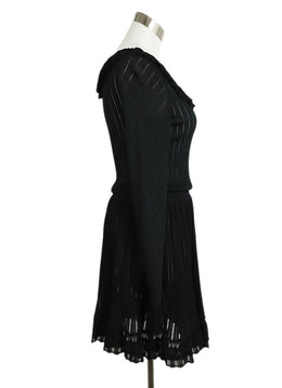 Alaia Black Viscose Spandex Longsleeve Dress 2