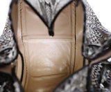 Alaia Brown Beige Snake Skin Bucket Handbag 4