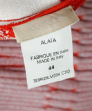 Alaia Red White Floral Viscose Polyester Dress 3