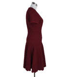 Alaia Red Wool Viscose Dress 2