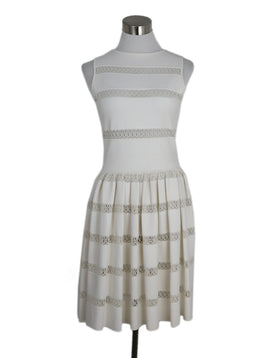 Alaia Ivory Viscose Polyester Spandex Dress 1
