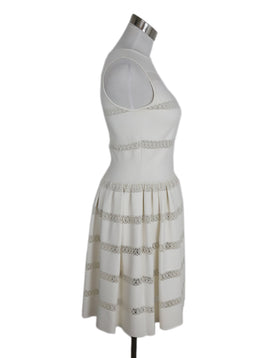 Alaia Ivory Viscose Polyester Spandex Dress 2