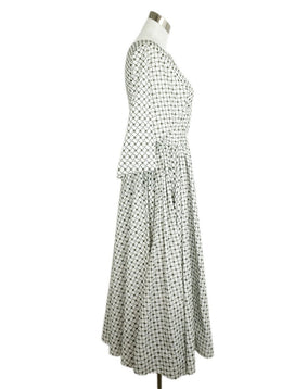 Alaia White Cotton Olive Eyelet Dress 2