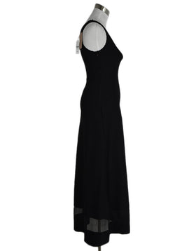 Alaia Black Illusion Trim Maxi Dress sz. 2 | Alaia