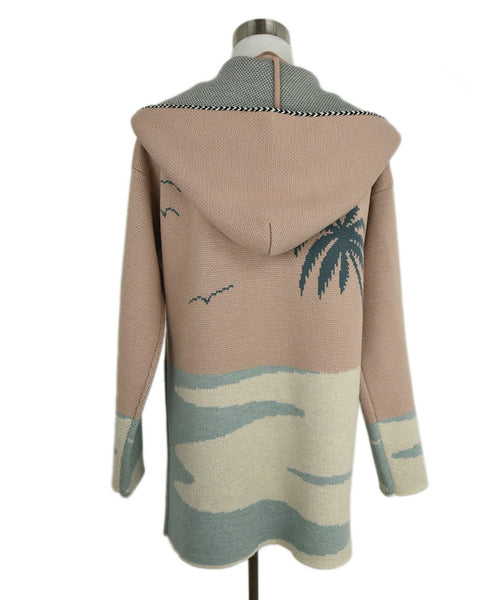Alanui Pink Pastel Mint Wool W/Hood Sweater 3