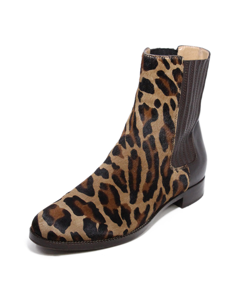 Alberta Feretti Animal print Calfhair leather boots 1