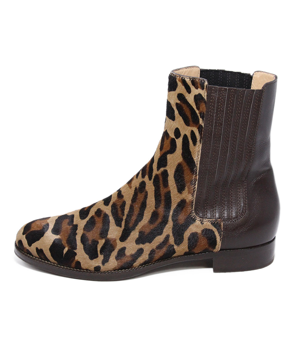 Alberta Feretti Animal print Calfhair leather boots 2