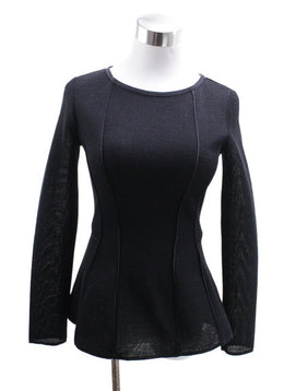 Alberta Ferretti Black Wool Cotton Sweater