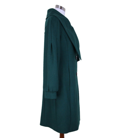 Alberta Ferretti Green Wool Coat 1