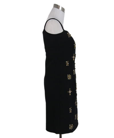 Alberta Ferretti black bronze metal sequin silk dress 1
