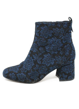 Alex+Alex Black Navy Lurex Booties Sz 37