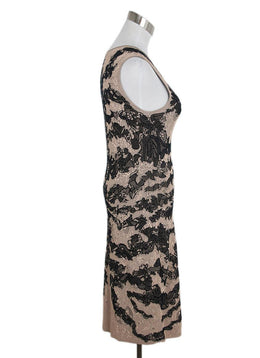Alexander McQueen Black Nude Viscose Silk Dress 2