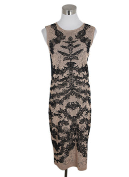 Alexander McQueen Black Nude Viscose Silk Dress 3