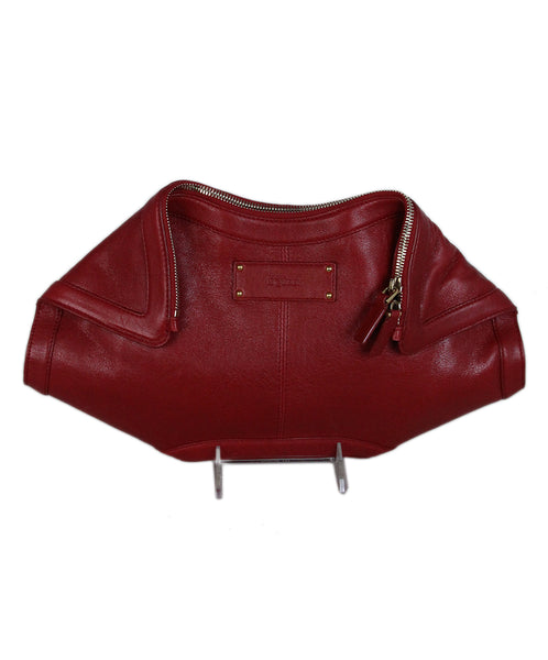 Alexander McQueen Red Leather Handbag 1