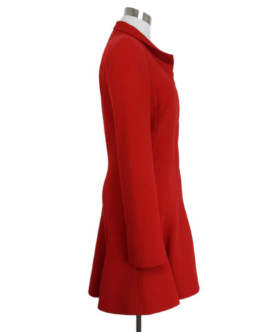 Alexander McQueen Red Wool Coat 1
