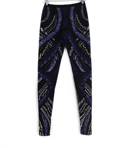 Alexander McQueen black blue knit pants 1