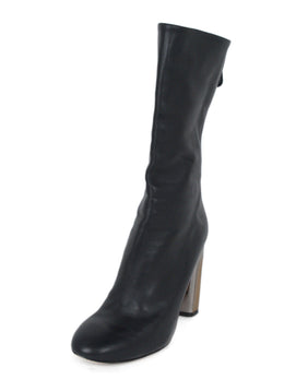 Alexander McQueen Black Leather Boots 1