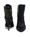 Alexander McQueen Black Olive Leather Suede Booties 3