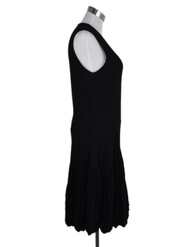 Alexander McQueen Black Wool Pleated Dress 2