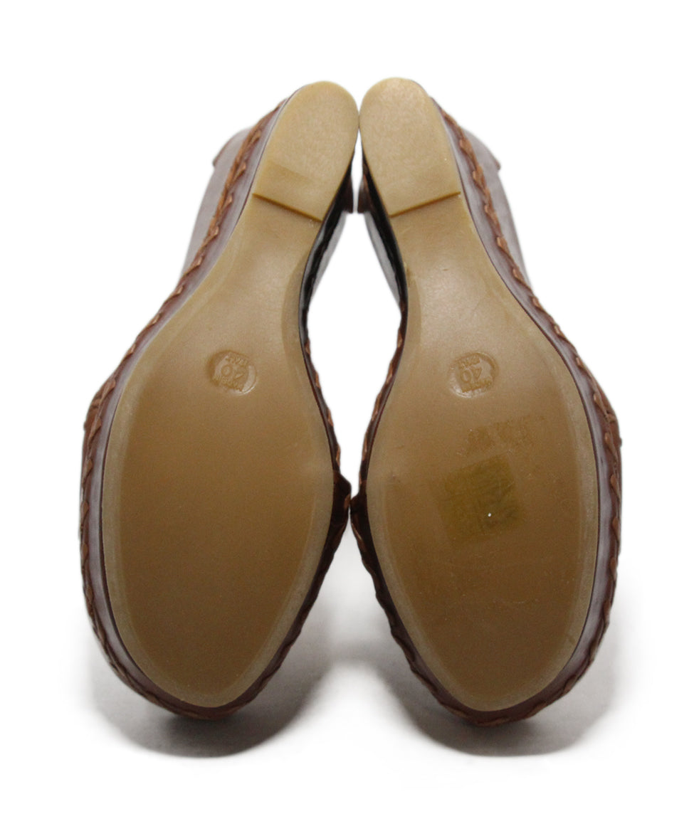 Alexander McQueen brown leather wedges 5