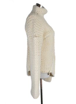 Alexander McQueen Cream Wool Sweater Turtleneck 2