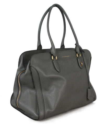 Alexander McQueen grey leather tote 1