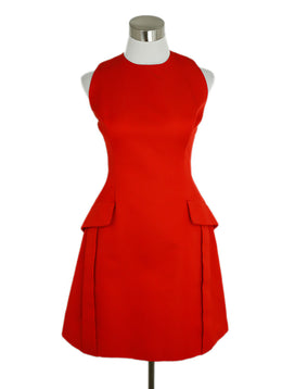 Alexander McQueen Red Cotton Viscose Dress 1