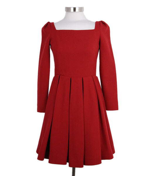 Alexander McQueen red wool dress 1