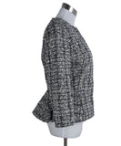 Alexander McQueen White Black Cotton Wool Jacket 2