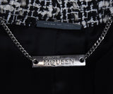 Alexander McQueen White Black Cotton Wool Jacket 4