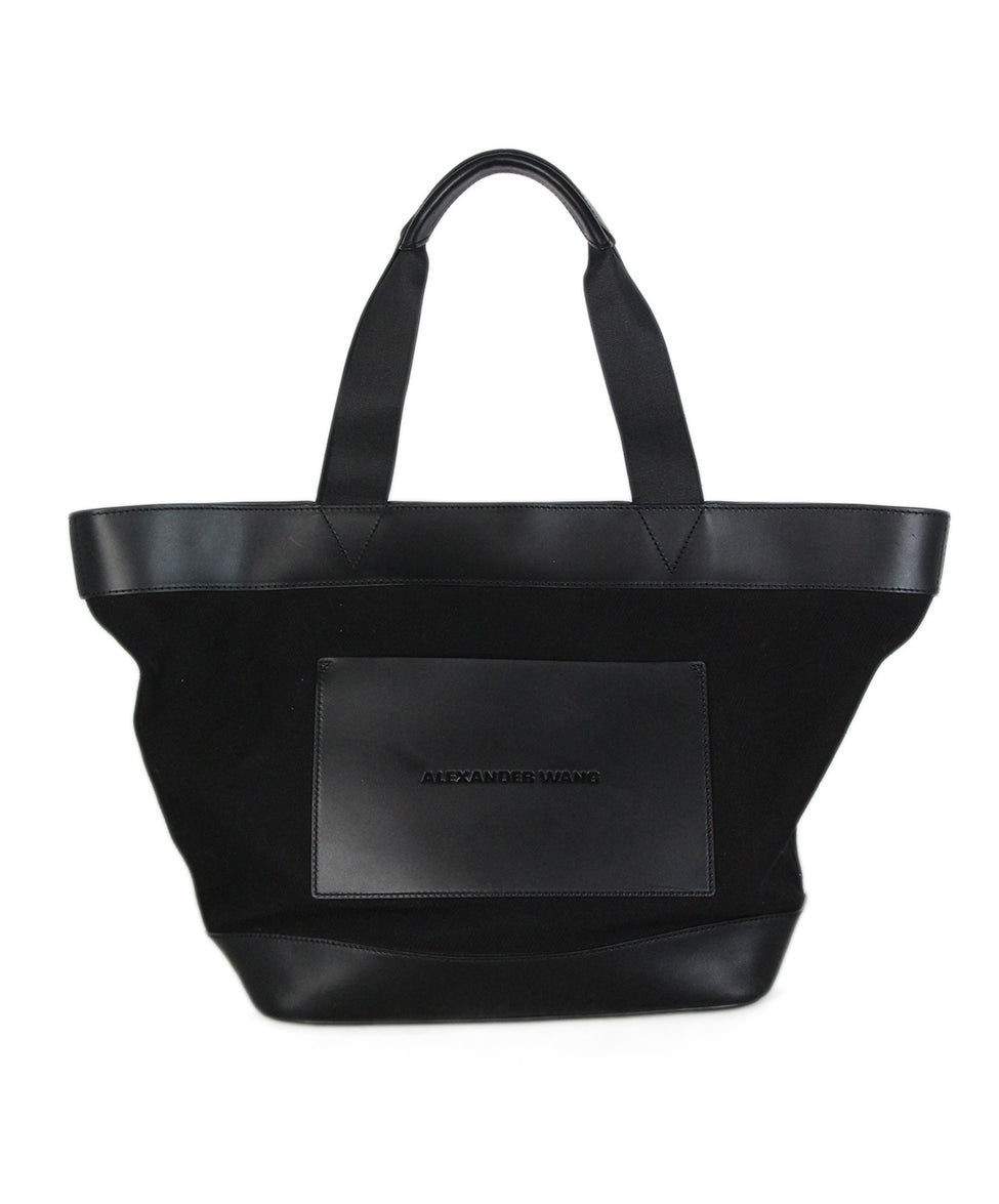 Alexander Wang Black Canvas Leather Tote 1