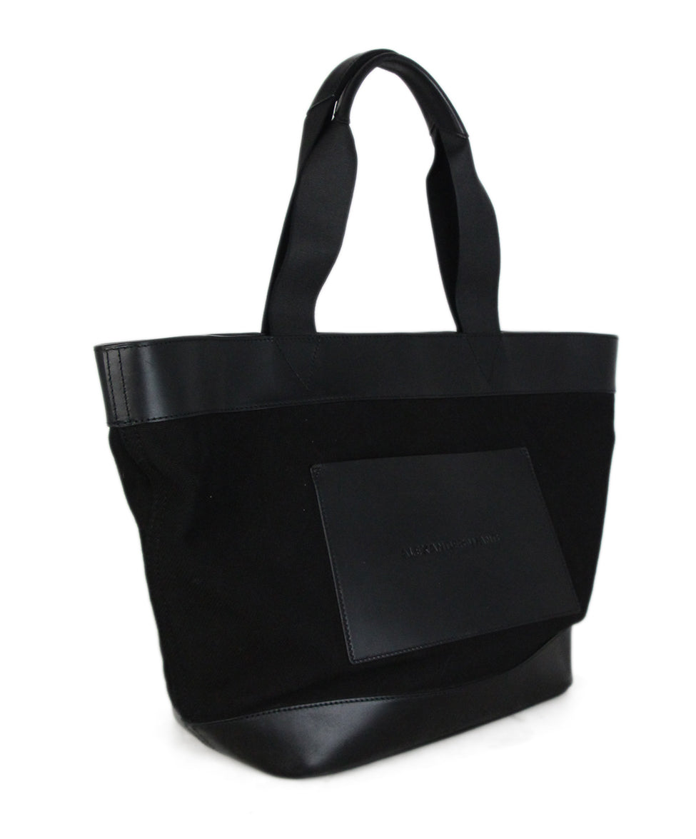 Alexander Wang Black Canvas Leather Tote 2