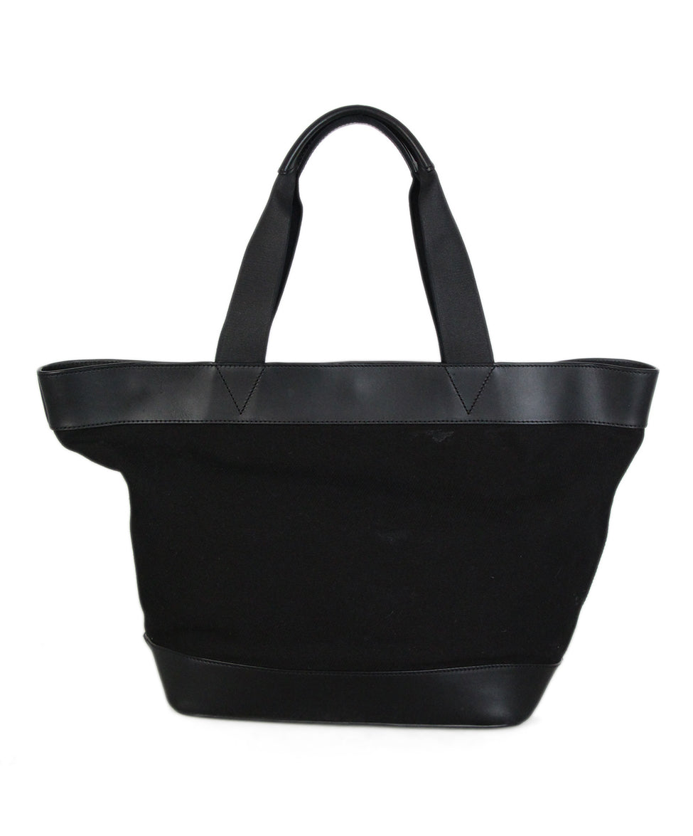 Alexander Wang Black Canvas Leather Tote 3