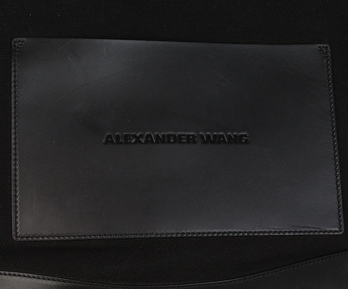 Alexander Wang Black Canvas Leather Tote 10