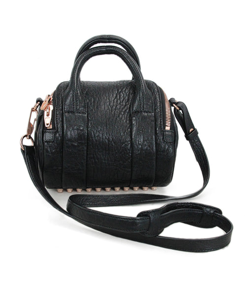 Alexander Wang Mini Rockie Black Leather Bag 2