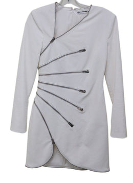 Alexander Wang White Cotton Zipper Design Dress