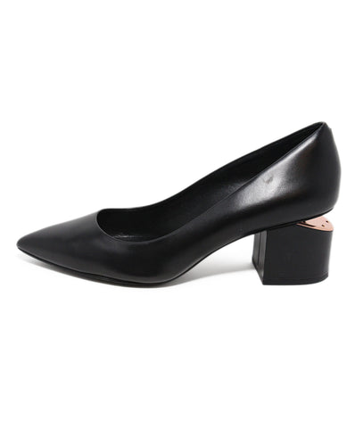 Alexander Wang black leather heels 1