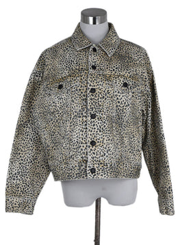 Alexander Wang Black Tan Leopard Cotton Jacket 1