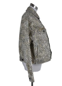 Alexander Wang Black Tan Leopard Cotton Jacket 2