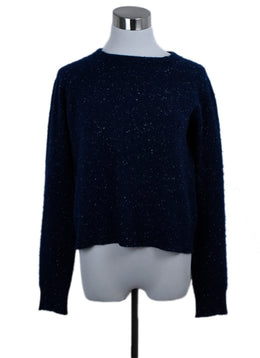 Alexander Wang Blue Navy White Cashmere Sweater 1