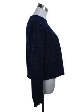 Alexander Wang Blue Navy White Cashmere Sweater 2