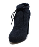 Alexander Wang Grey Flannel Booties 1