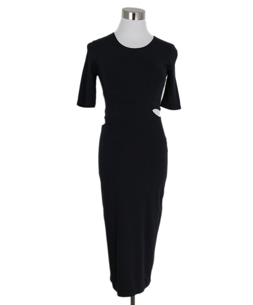 Alexander Wang Navy Rayon Polyester Cutouts Dress 1