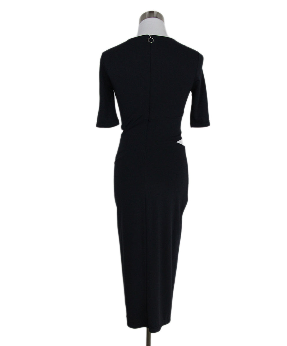 Alexander Wang Navy Rayon Polyester Cutouts Dress 3